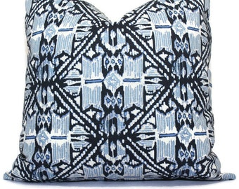 Lacefield Havana Indigo Blue  Wedgewood Trellis Decorative Pillow Cover, Throw Pillow, Accent Pillow, Pillow Sham