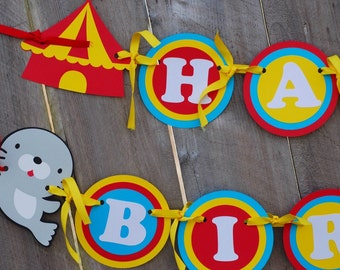 Circus Birthday Party Banner, Circus Theme, Carnival Baby Shower, Circus 1st Birthday
