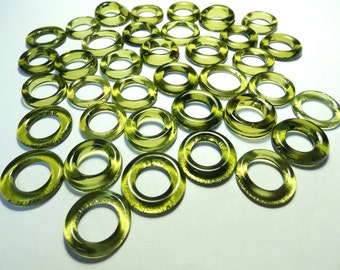 Recycled Green Recycled Kiln Polished Bottle Rings 36 Rings (R924)