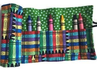 Bright Crayons Crayon Roll