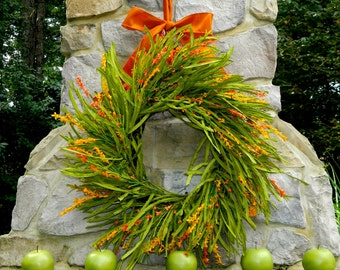 Large Summer Door Decor - Large Autumn Door Wreath - Handmade Front Door Wreath