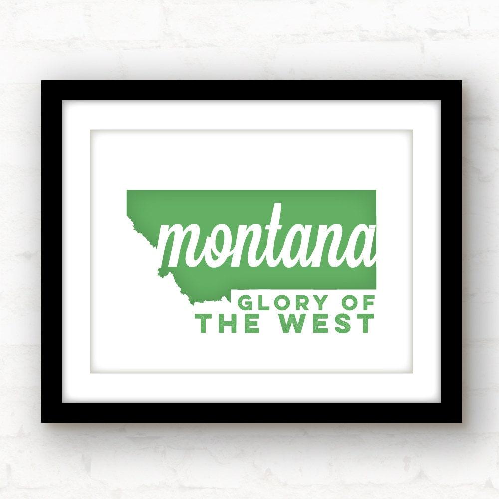 Montana Sign Montana Art Missoula Montana Bozeman
