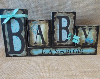 BABY Word Block Sign