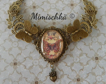 Necklace royal butterfly choker