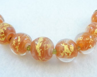 "Lampwork Bead Set ""Autumn's Sigh"""