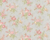 Whitewashed Cottage - Pebble Small Floral Grey by 3 Sisters from Moda