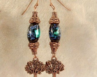 Glass and Metal Earrings - LE42