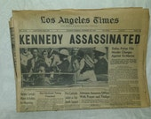 LA Times Kennedy Assassination Newspapers (6) Days of Publications