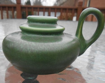 Hampshire Pottery Matte Green Arts & Crafts Finger Candle
