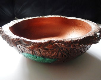 Concrete Leaf Bowl
