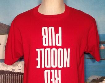 1980's Red Noodle Pub t-shirt, fits like a large