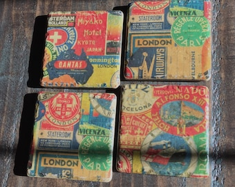 Rustic Travel Coasters