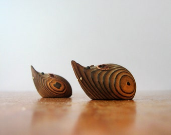 Pair of Vintage Wooden Mice
