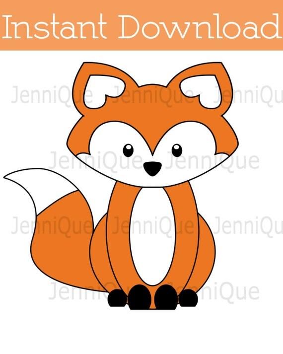 Printable Fox Decorations, Fox Baby Shower Decoration, Fox Birthday Decor,  Woodland Party Centerpieces, Fox Party Cut Out Decor, #Fox01