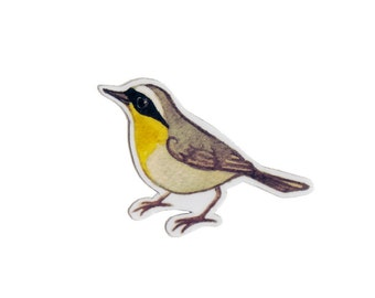 Common Yellowthroat Bird Magnet / Nature Art / Refrigerator Magnet / Office Magnet / Party Favor / Small Gift