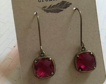 Cranberry Jewled Earrings