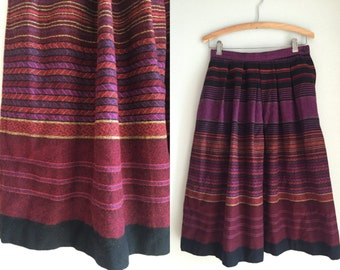 Striped skirt size small wool blend material