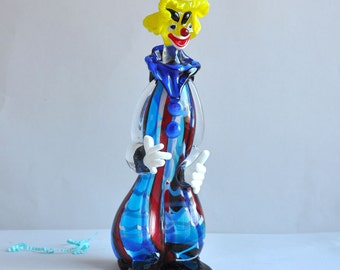 "SALE 30% OFF! Murano Glass Clown - 11"" - Italy"
