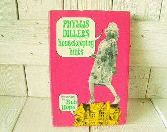 Vintage book Phyllis Dillers Housekeeping Hints mother wife retro humor 1966 out of print