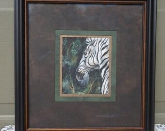 Original Zebra Watercolor Painting