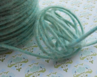 "Cord Wool Thick Yarn Teal 10 yds 1/8"" width"