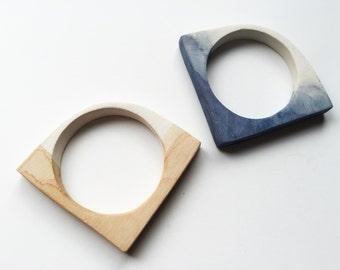 Horizon Bangle III. Polymer Clay Bracelet. Wearable Art.