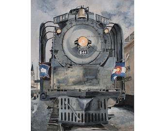 Union Pacific WYCO - Train in Wyoming Colorado 8 x 10