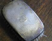 antique english silver hallmarked brush