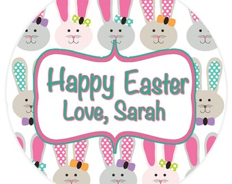 24 STICKERS Easter Bunny Stickers, Easter Basket Stickers, Personalized Easter Stickers, Easter Envelope Labels, 24 STICKERS (646)