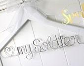 My Soldier Military Wedding Dress Hanger, Marine Wedding Gift, Army Wedding Gift, Navy Wedding, Air Force Wedding, Navy Wife, Marine Wife
