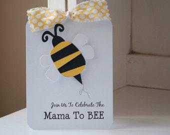Bumblebee Bee Baby Shower Honeybee Invitations Invites Black and Yellow