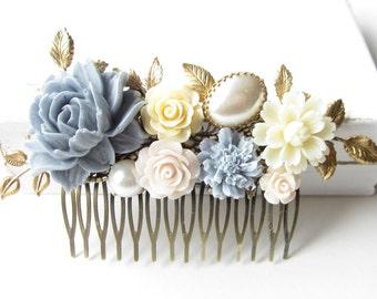 Haarkamm,haircomb,Haar-Accessoire,Hair Accessories, Shabby Chic, Romantic,floral hr