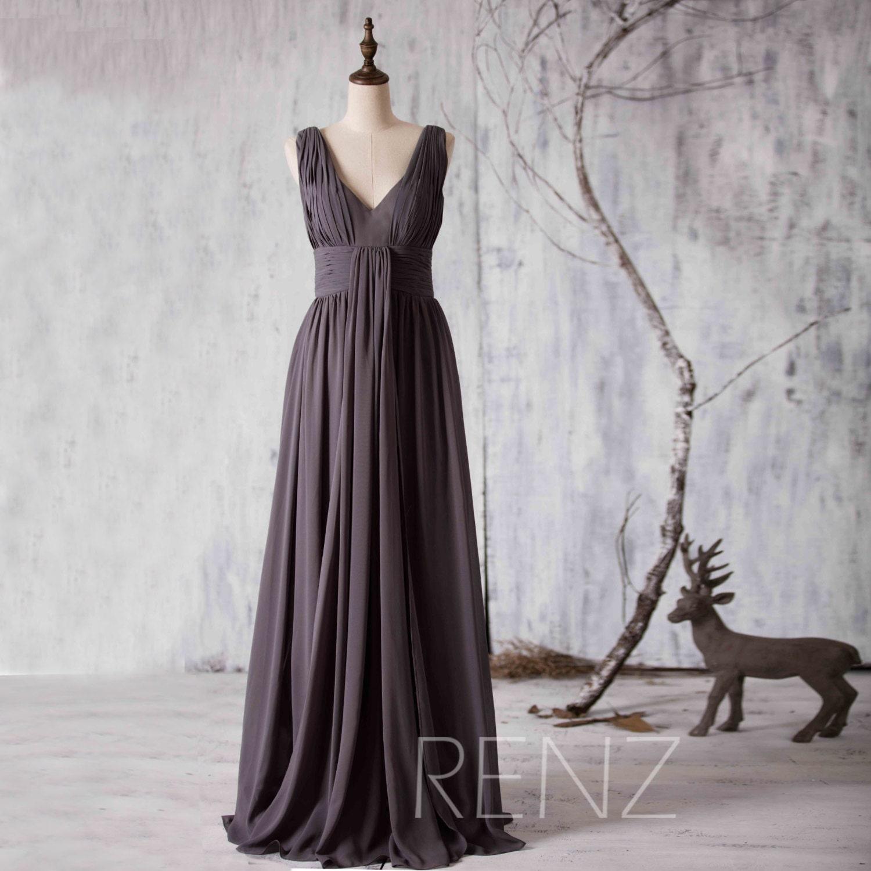 2017 Charcoal Grey Bridesmaid dress Strapless Women Wedding