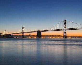 Bay Bridge at Sunrise - San Francisco Photography Print and Canvas Wrap