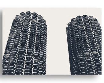 Marina City Chicago Print and Canvas Wrap