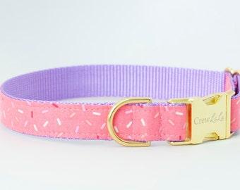 Crew LaLa™ Pink Sugar Sprinkles Dog Collar