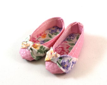Pink Floral Flats Shoes for Minifee Moe Line