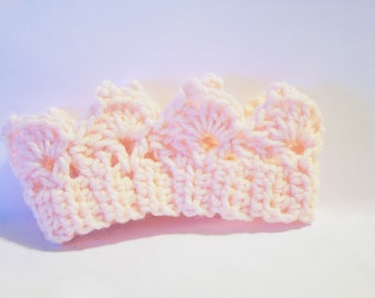 Crochet Baby Crown Headband - Newborn Crown Headband - Color Choices Available -  Baby Prop - Child