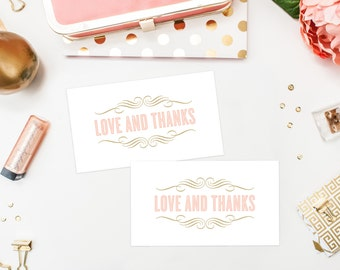 Instant Download - Old Fashioned Thank You Tags