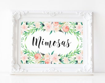 "Instant Download - Delicate Bouquet Mimosas Print - 5""x7"""