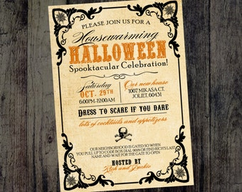 Halloween Party Invitations - Digital Halloween Invite - Party Invitations - Spooky Halloween