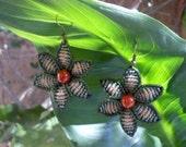 Macrame flower earrings