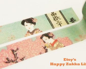 Taisho Romance 02 - Japanese Washi Masking Tape - 11 yards