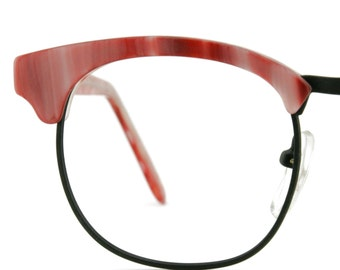 Vintage Women Pink & Black Eye-Q Eyeglass Shady Character NYC Frames Eyewear