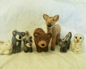 Custom Waldorf Inspired Needle Felted Woodland Animal Set ---reserved---