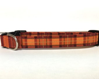 Dog Collar- Autumn Plaid