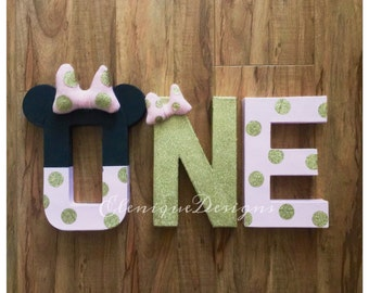 Minnie Mouse Inspired One Letters