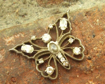 Vintage Sterling Silver Cut-Out Butterfly Pendant