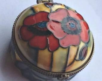 Old Tuptonware 'Yellow Poppies' Trinket Box