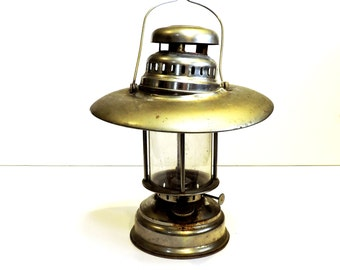 Mid Century Lantern, Vintage 1950s Metal Kerosene Lamp, Barn, Camping or Railroad Lantern 2 Refurbish, Upcycle or Photo Prop  itsyourcountry